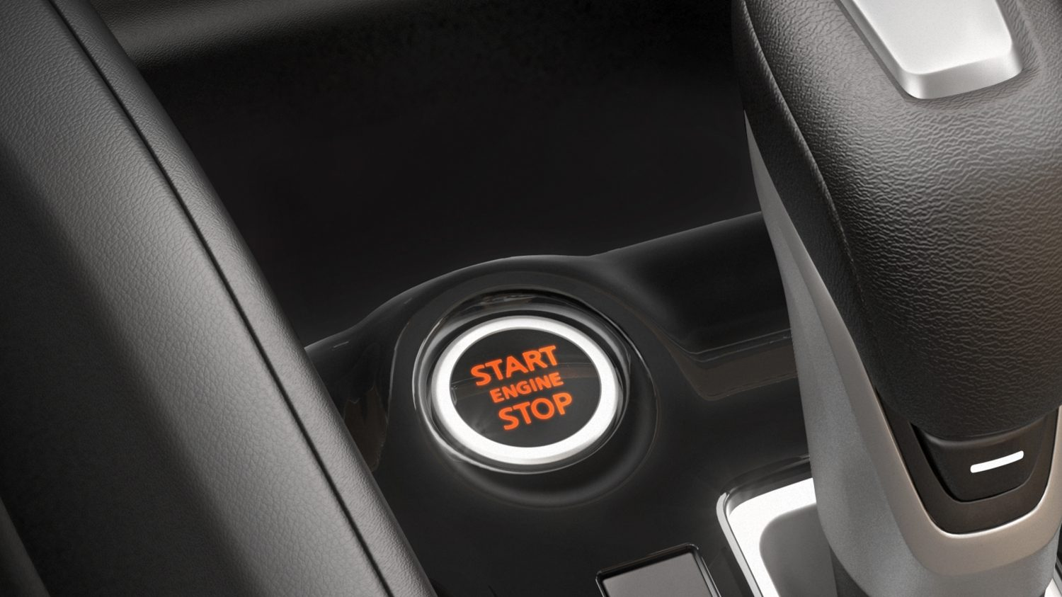 Nissan Kicks push button ignition detail