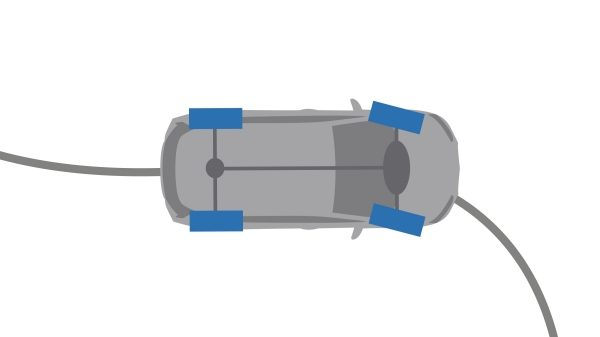 Turning radius illustration