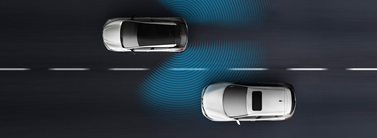 Nissan LEAF Blind Spot Warning illustration