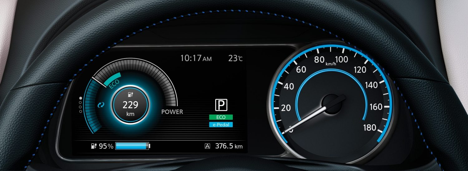 Nissan LEAF CUSTOMISABLE DISPLAY