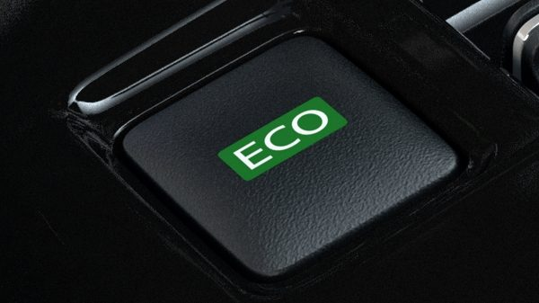 Nissan LEAF ECO mode button