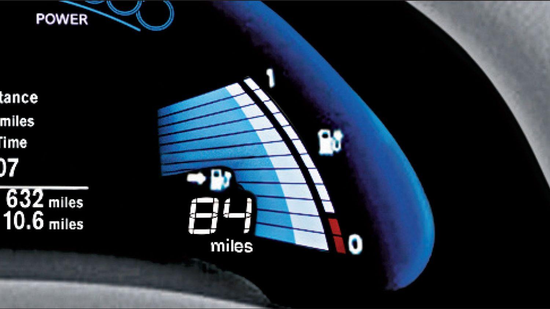 Nissan leaf range display