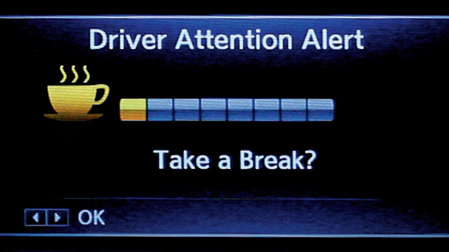 Driver Attention Alert Screen