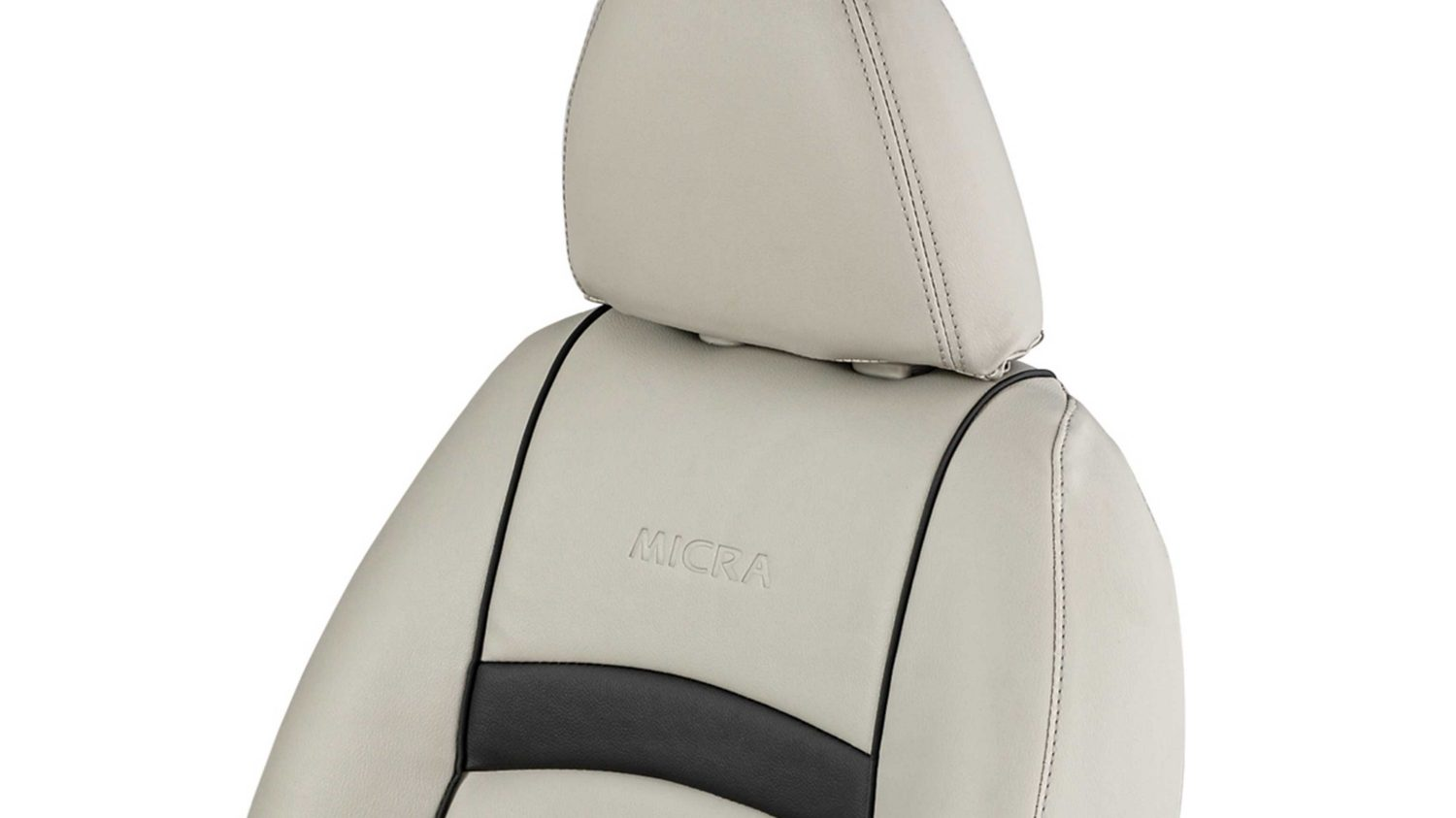 Seat Cover - Art Leather (Beige + Black with Piping)