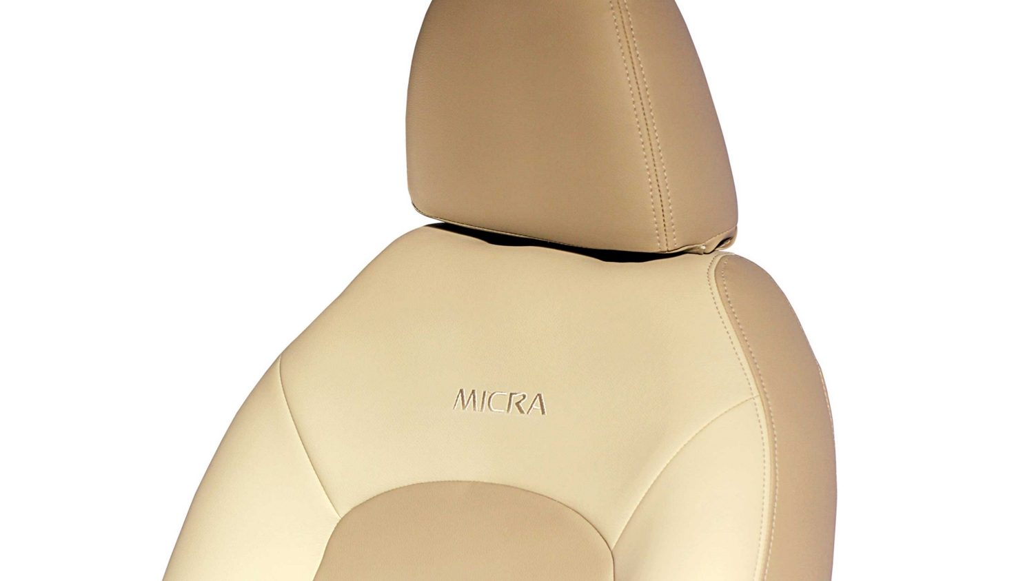 Seat Cover - Leather (Cream Color Gathering Detachable)