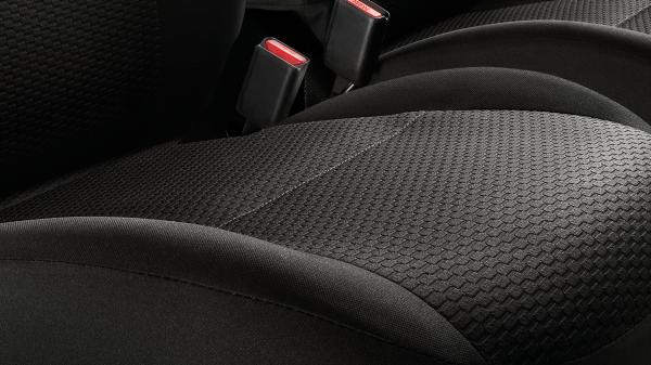 Suede effect trim seat