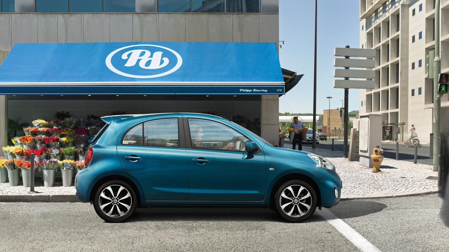 Nissan Micra Pacific Blue – Set i profil