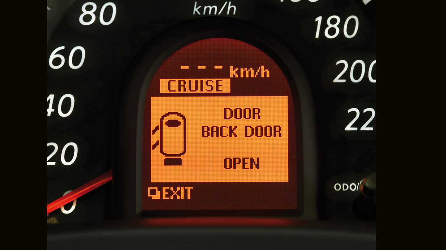 Nissan Micra - Multi-function display - Back door open alert