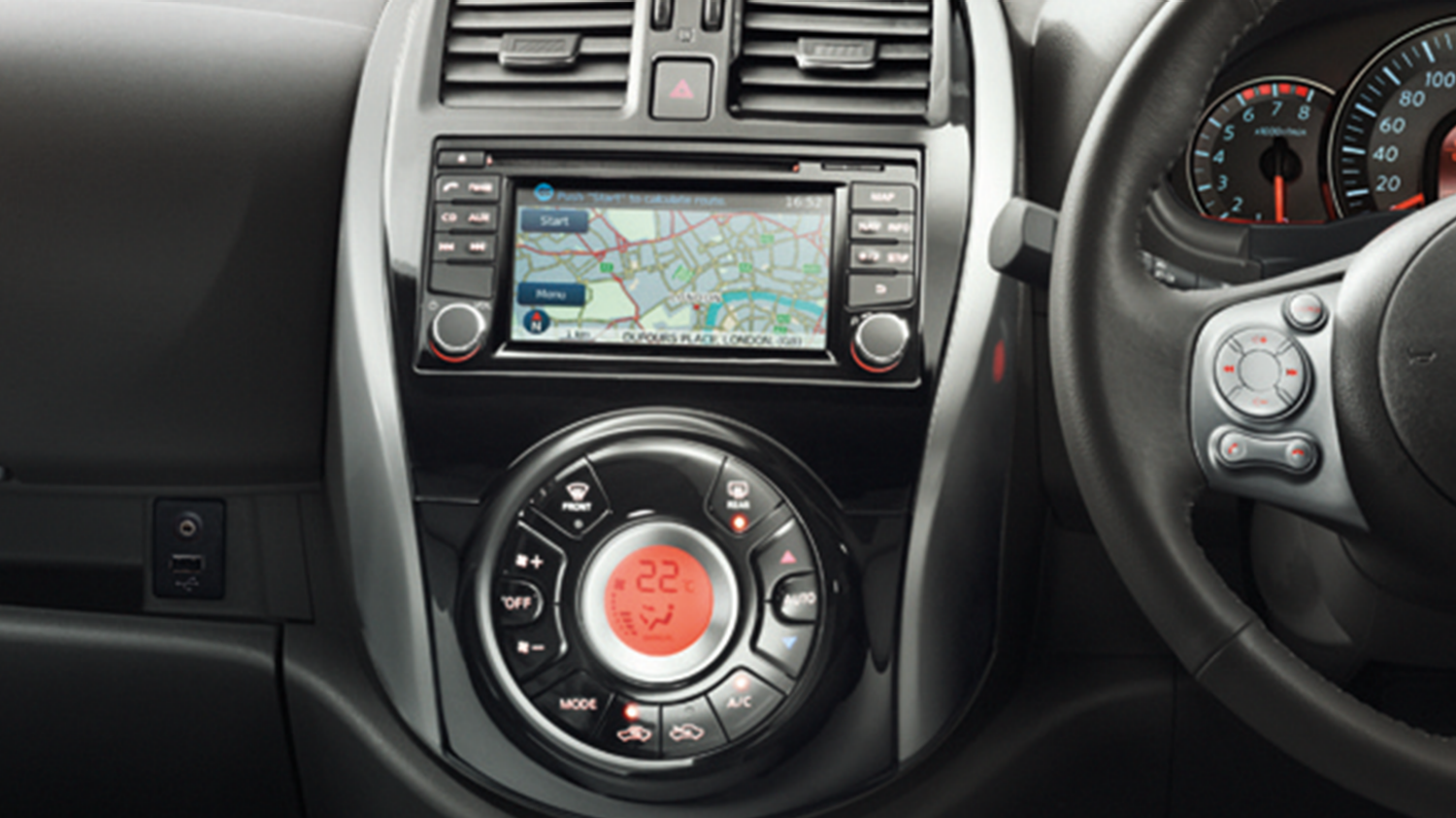 Nissan Micra | Sat nav display