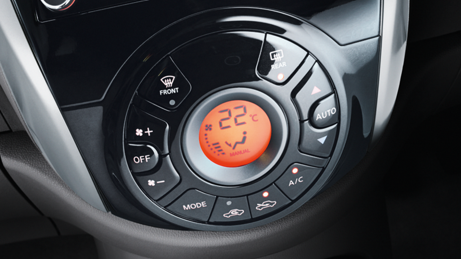 Nissan Micra | Temperature display