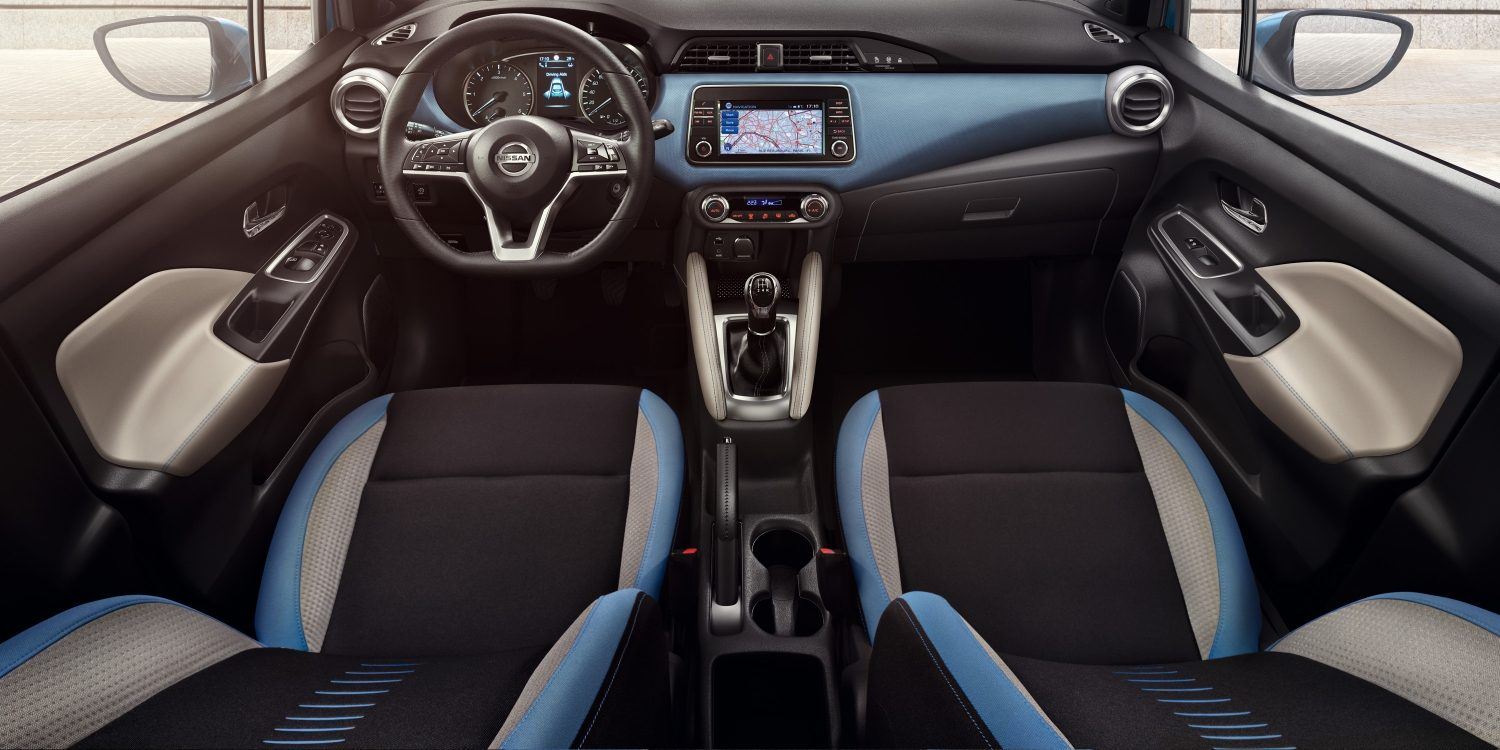 Nissan MICRA, interior Power Blue