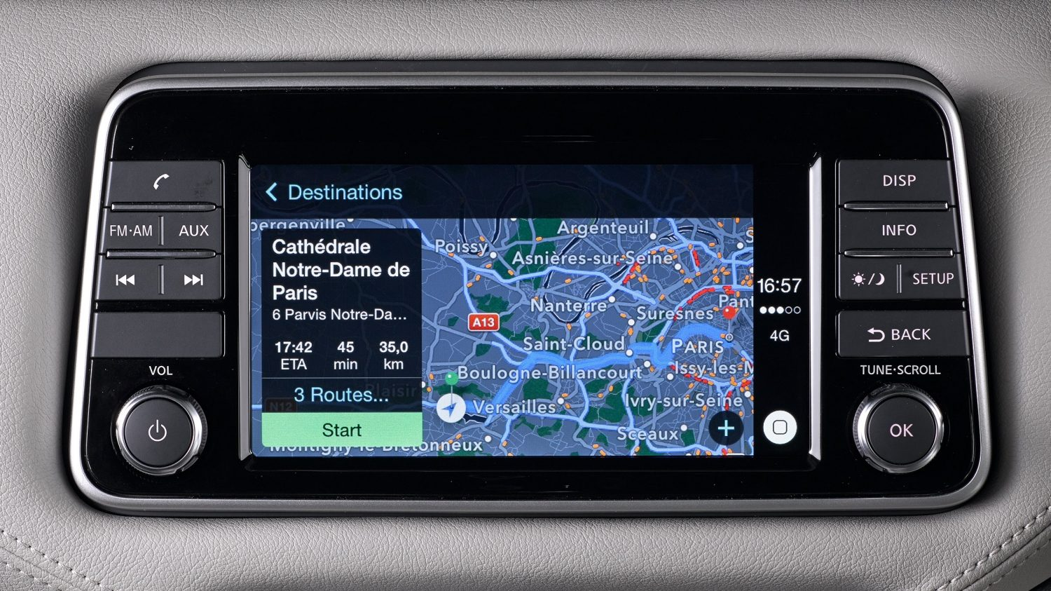 Nissan MICRA navigation avec Apple Carplay