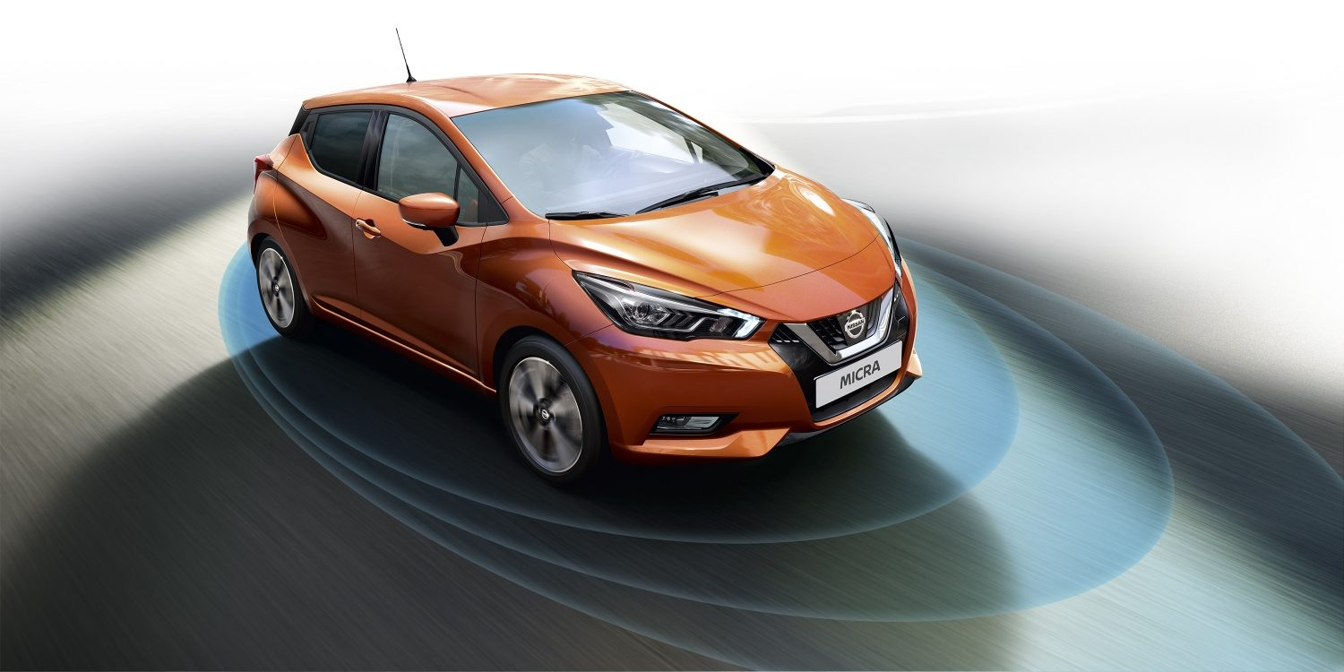 Nissan MICRA technologies Safety Shield - Système d'alerte anti-collision