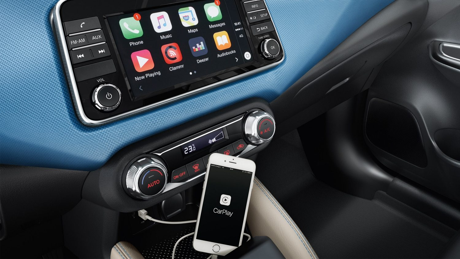 Ecrã do CarPlay da Apple do Nissan MICRA