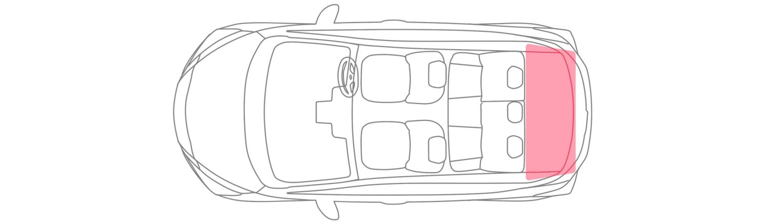 Nissan Micra Boot Capacity Illustration Rear Seats up