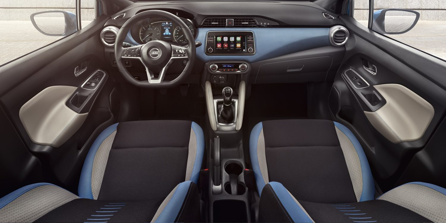 Nissan MICRA: galería modo de vida, interior en color Power Blue
