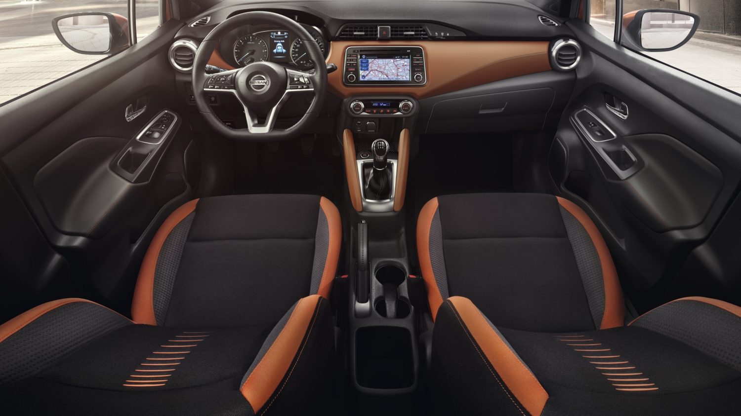 all new nissan micra - interior orange
