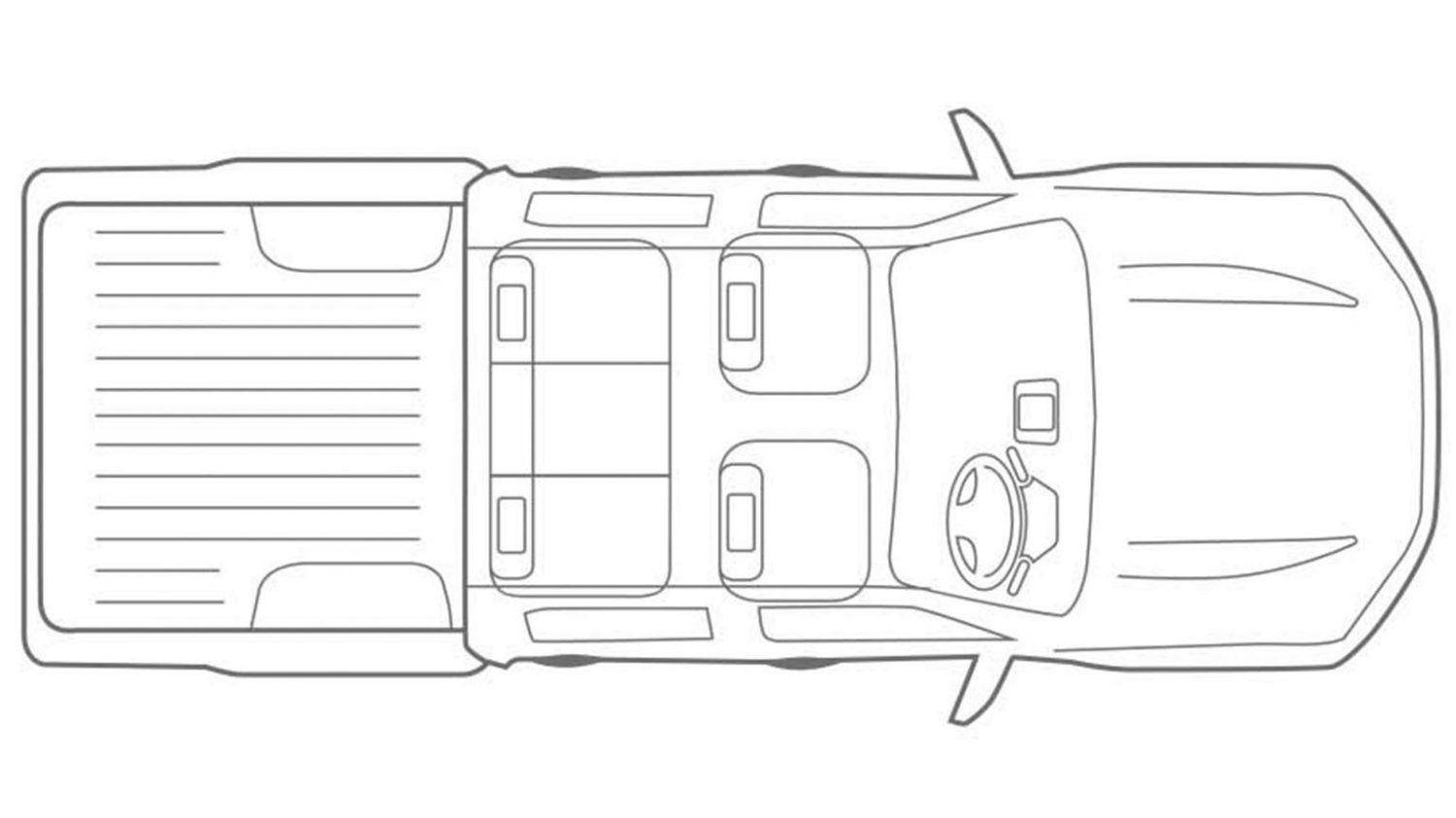 Nissan Navara - Overhead vehicle illustration