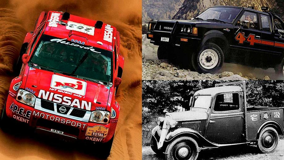 Vintage Nissan pick-up trucks