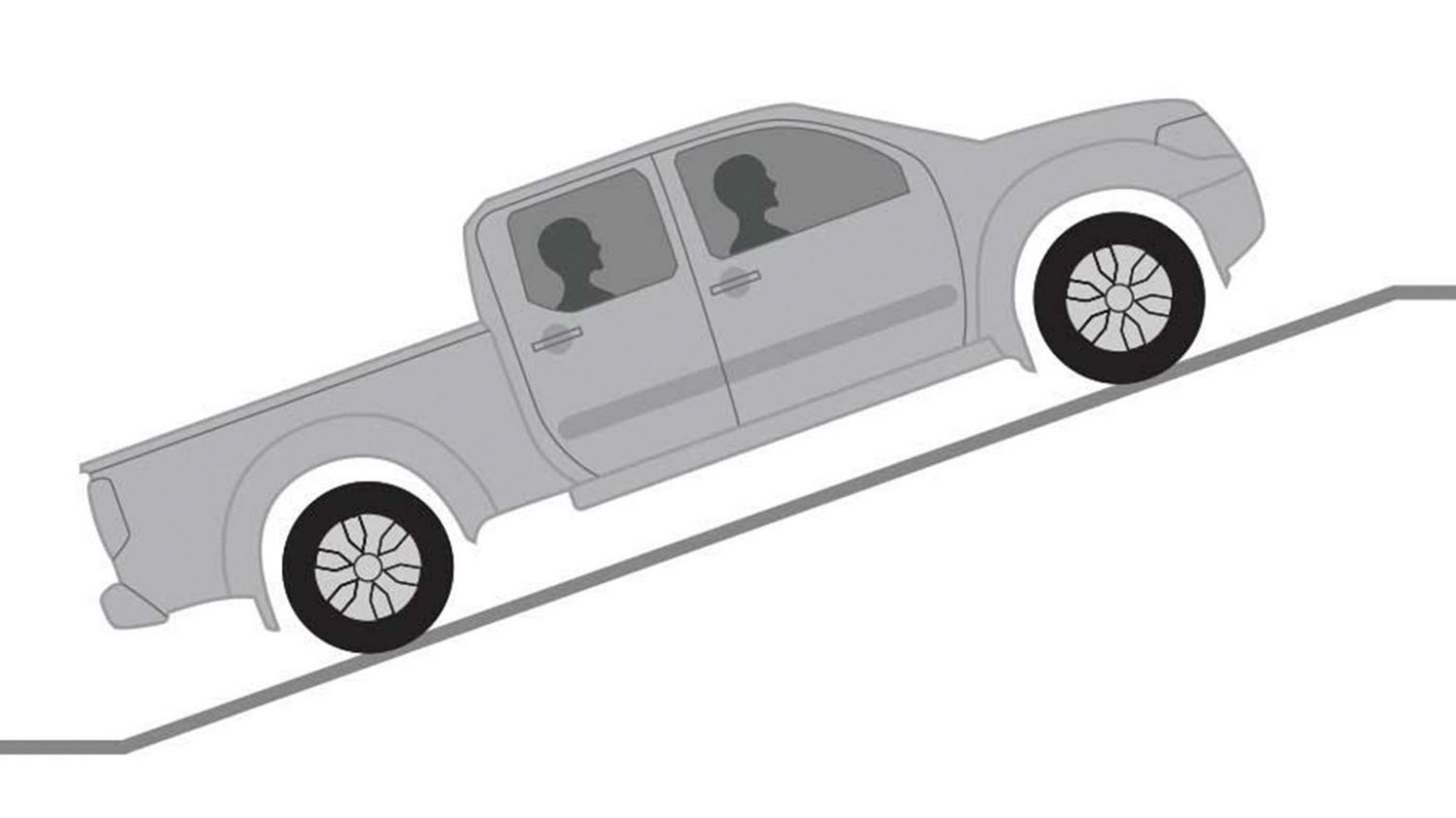 Nissan Navara hill start assist illustration
