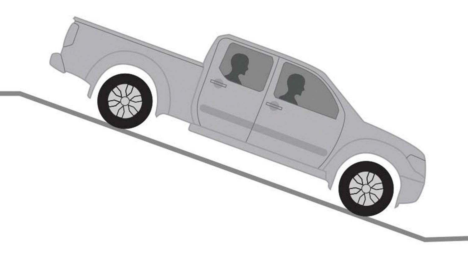 Nissan Navara hill descent control illustration