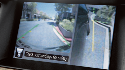 Nissan Pathfinder Around View Monitor curbside view