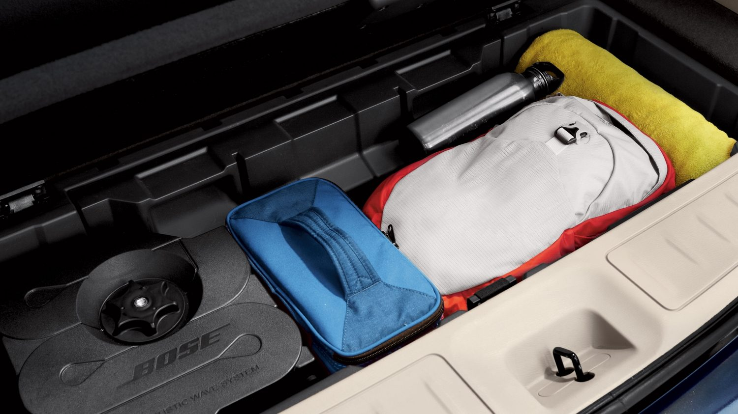 Nissan Pathfinder under-floor storage