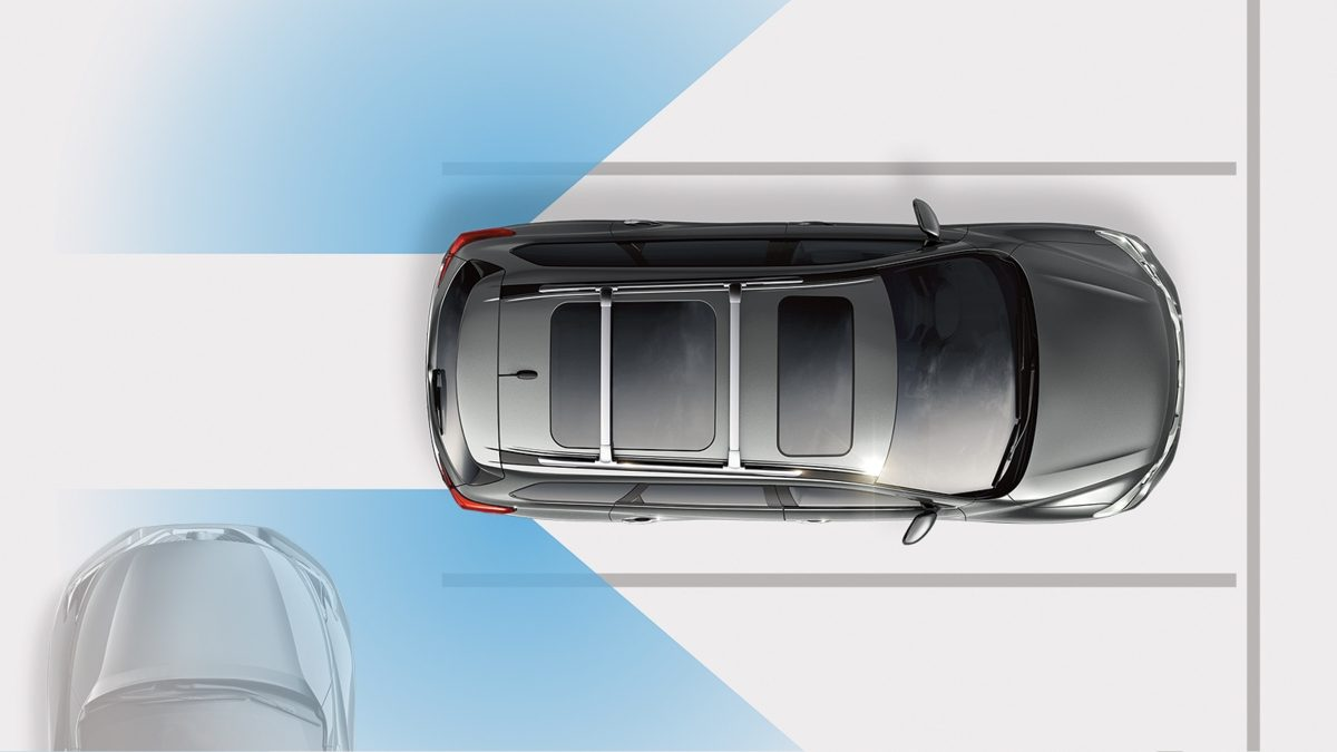 Nissan Pathfinder REAR CROSS TRAFFIC ALERT illustration