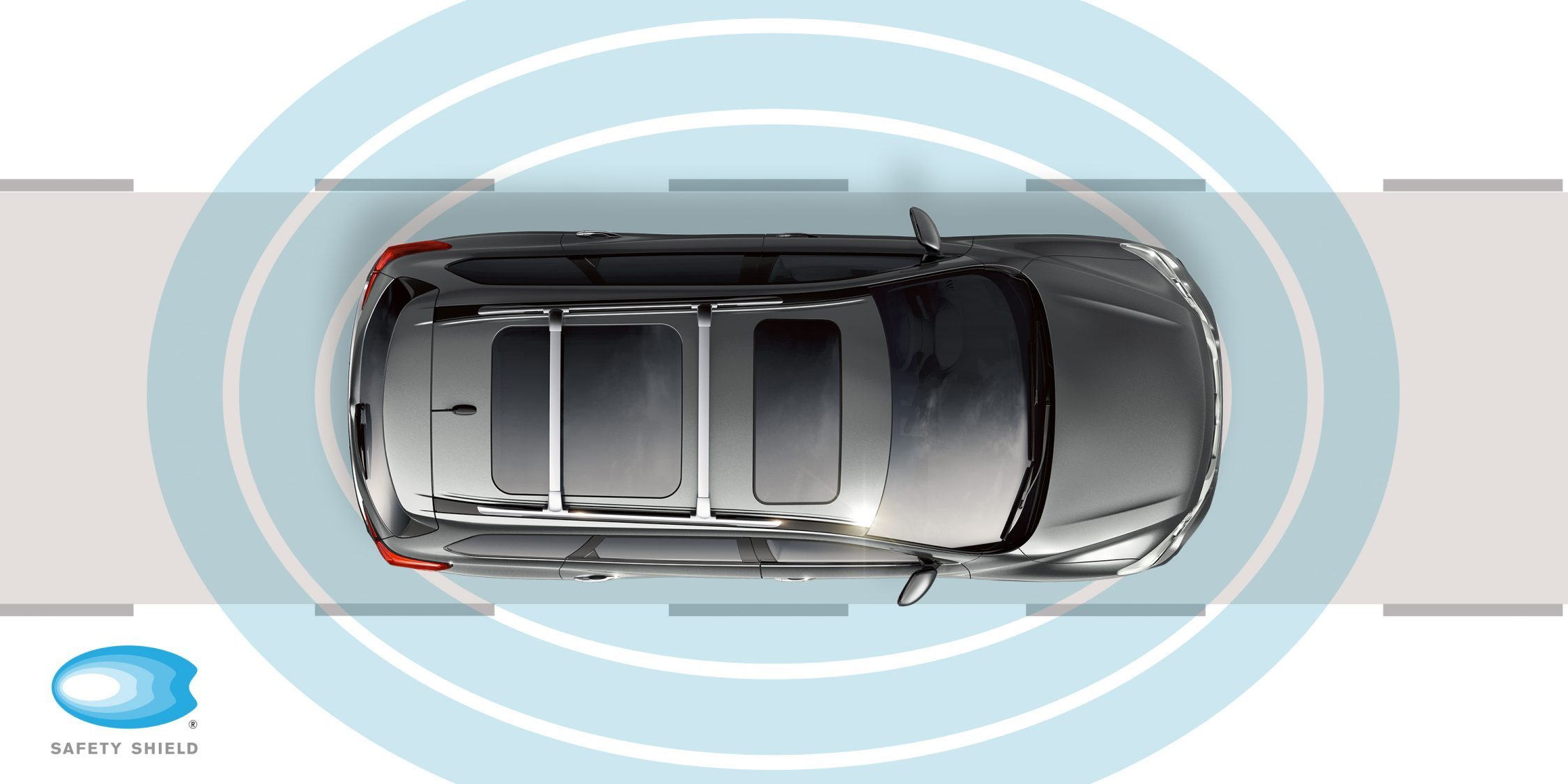 Vista superior de Nissan Pathfinder con Safety Shield