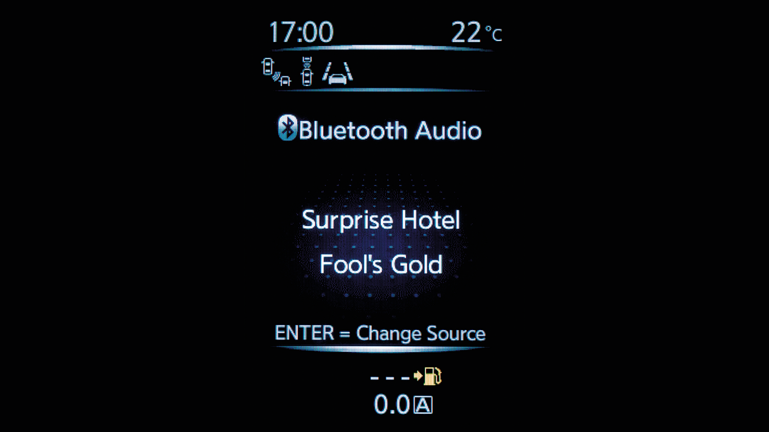 Nissan PULSAR – Bluetooth-audio-display