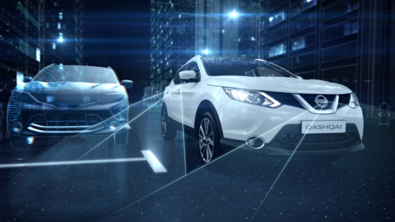 Nissan QASHQAI - Intelligente parkingsassistsystem