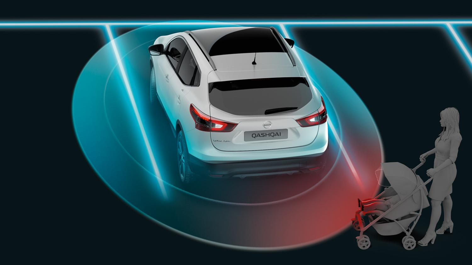 Nissan Qashqai | Moving Object Detection
