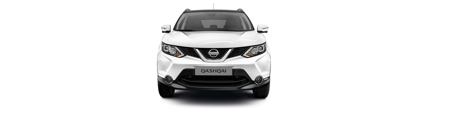Front end shot with vehicle in white background
