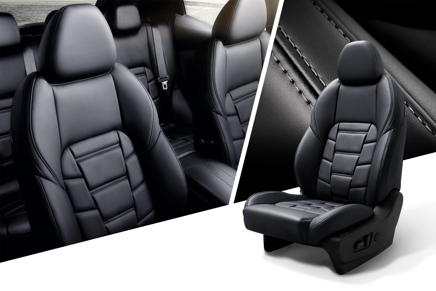 Qashqai collage with seats, trim and seat packshot