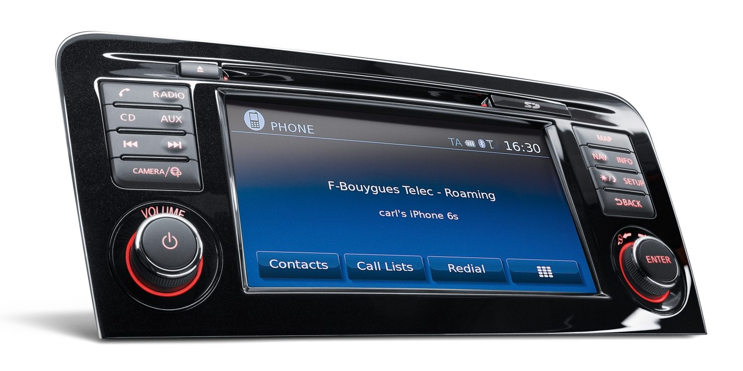 Qashqai NissanConnect Mobile integration screen
