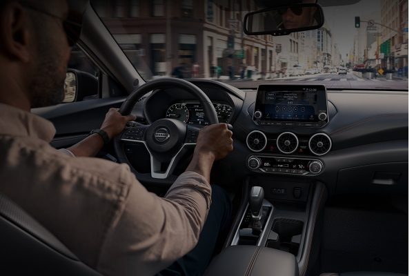 2020 Nissan Sentra dashboard view