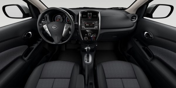 Nissan Versa steering wheel and dashboard