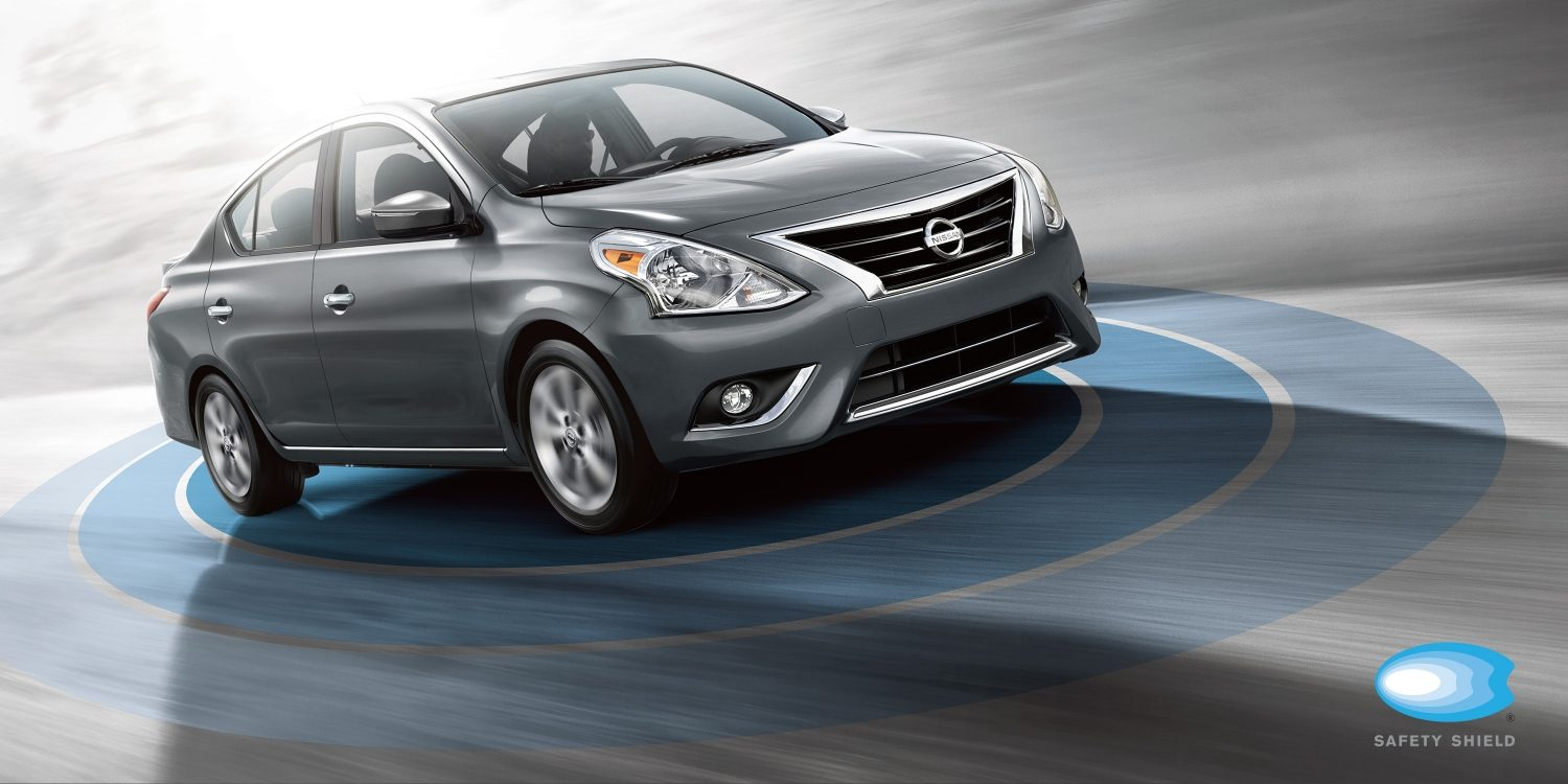 Nissan Versa safety shield illustration