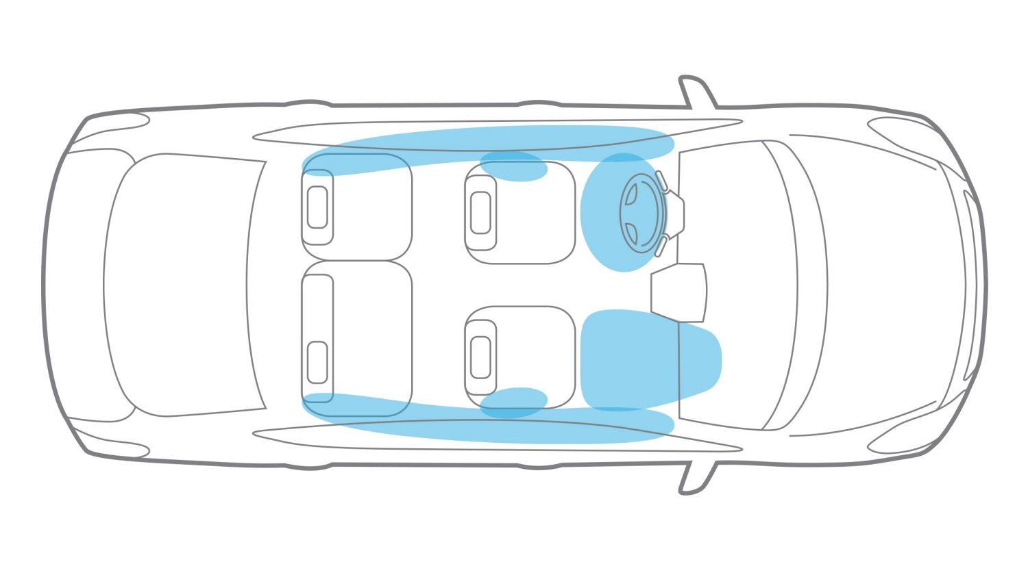 Nissan Versa Airbags illustration