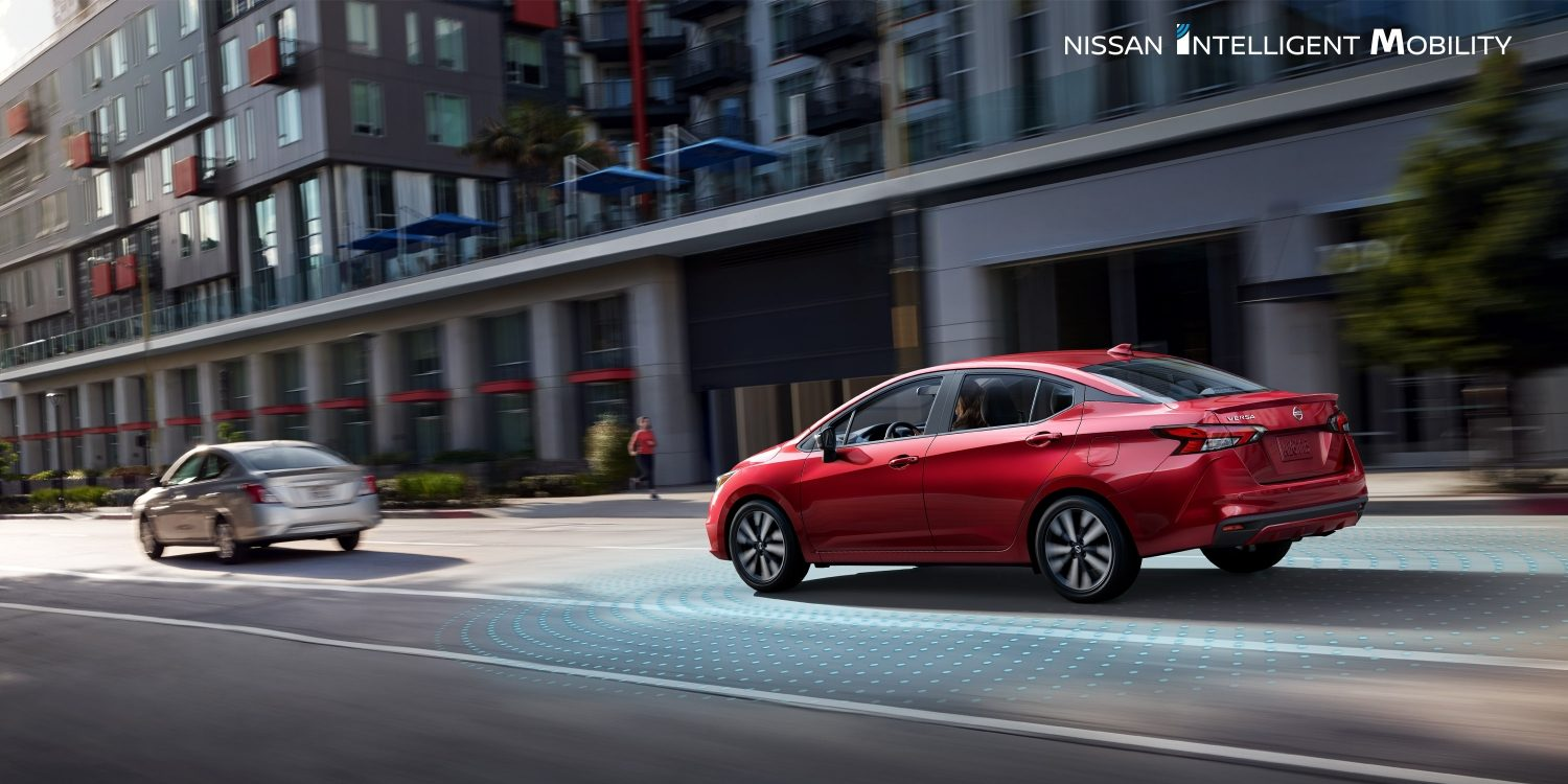 2020 Nissan Versa on highway