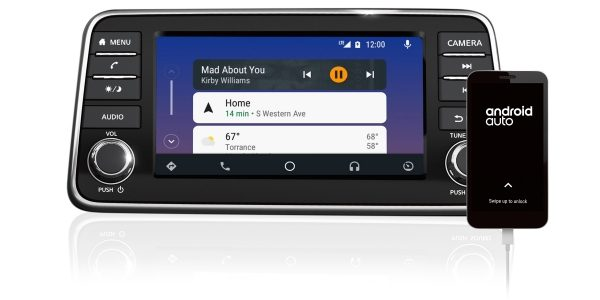 2020 Nissan Versa Android Auto screen