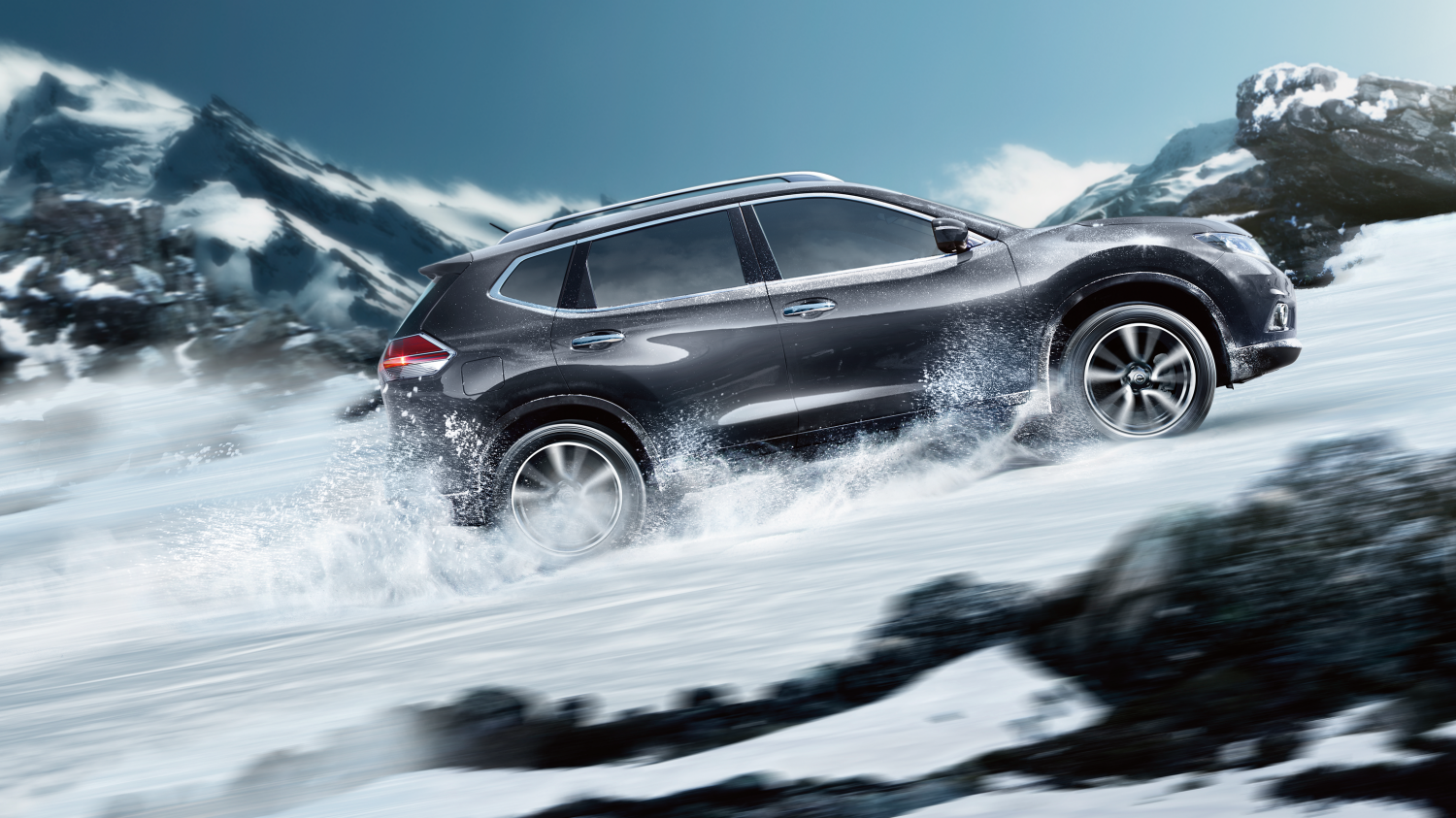 7 seater & 4x4 car design - 4x4 exterior - Snow | Nissan X-Trail
