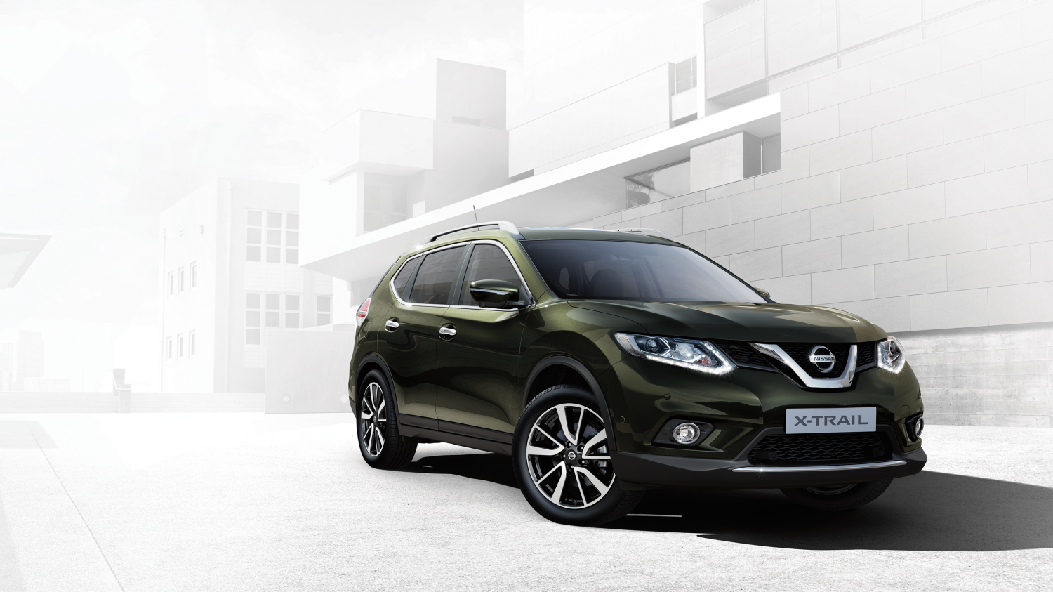 7 seater & 4x4 car design - 4x4 exterior - Green | Nissan X-Trail