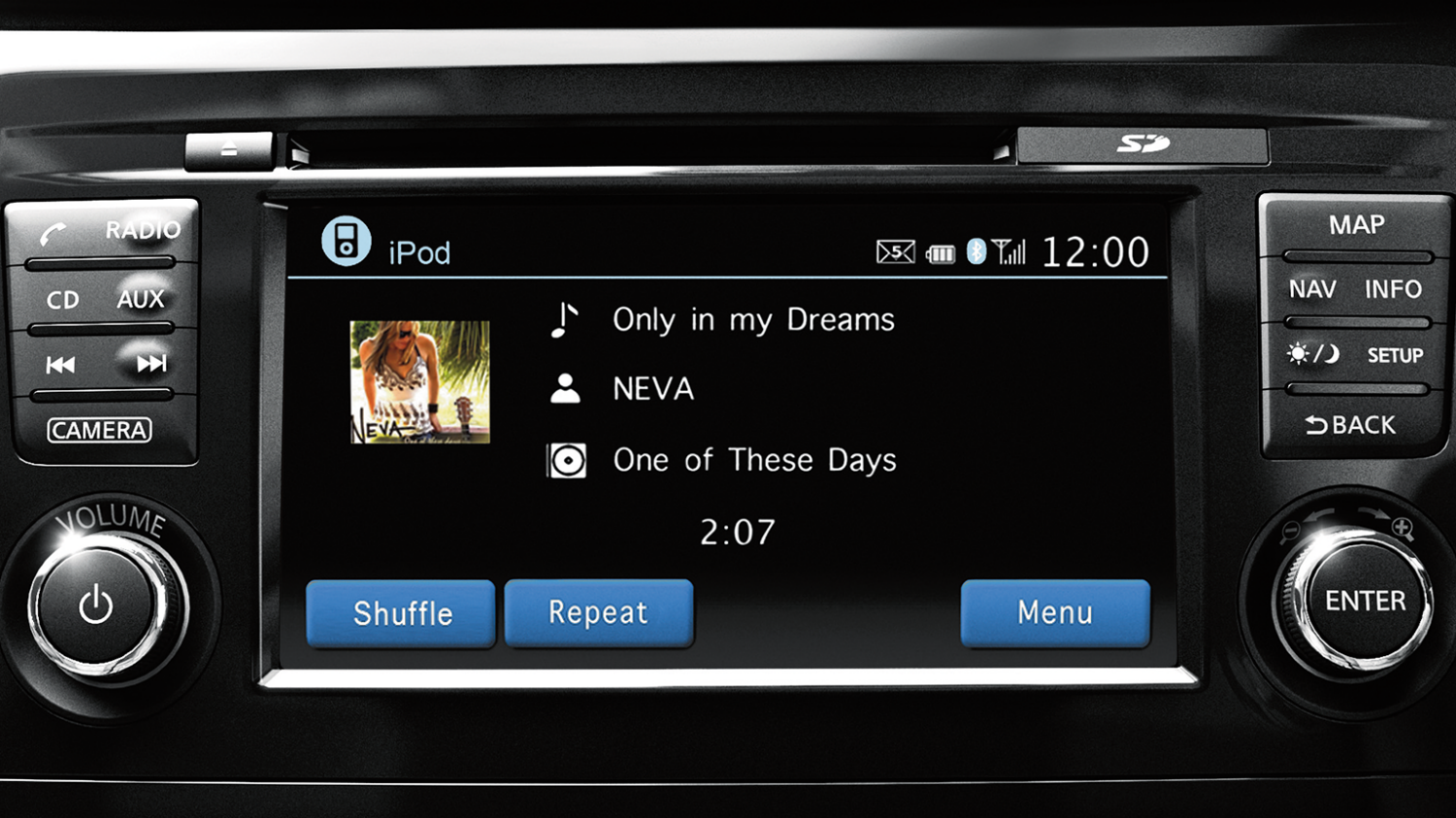Nissan X-Trail | NissanConnect music display