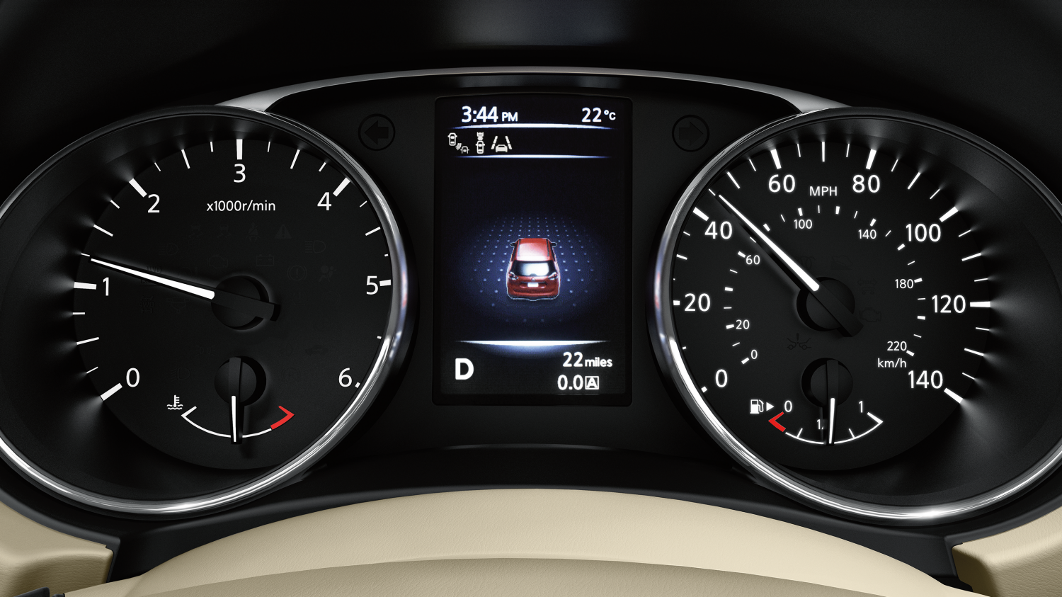 7 seater & 4x4 car features - Drive-assist display | Nissan X-Trail