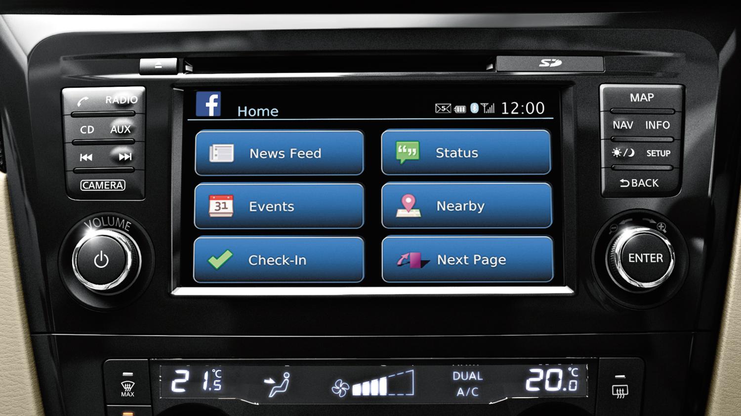 7 seater & 4x4 car - Bluetooth audio display | Nissan X-Trail