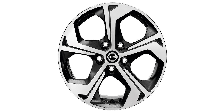 17-дюймовый литой диск FLOW для Nissan X-TRAIL, черный, полированный