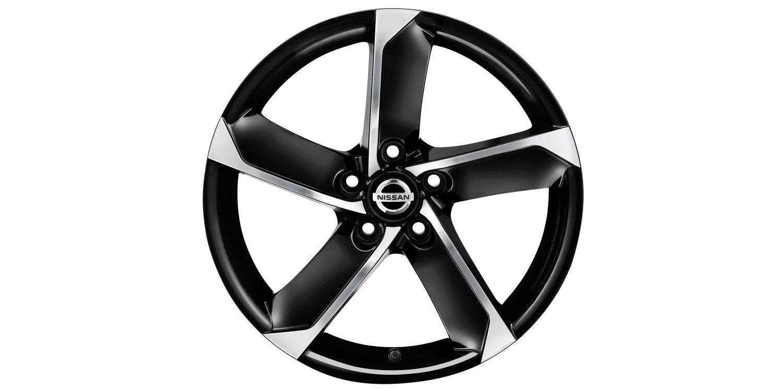 18-дюймовый литой диск HIMALAYA для Nissan X-TRAIL, черный металлик, полированный