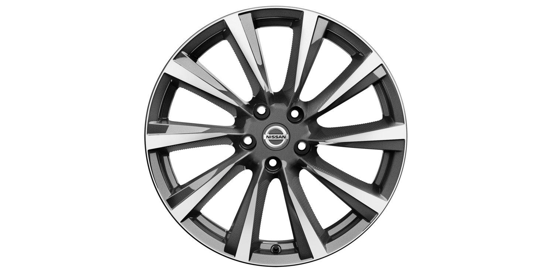 19-дюймовый литой диск Wind для Nissan X-TRAIL, серый, полированный