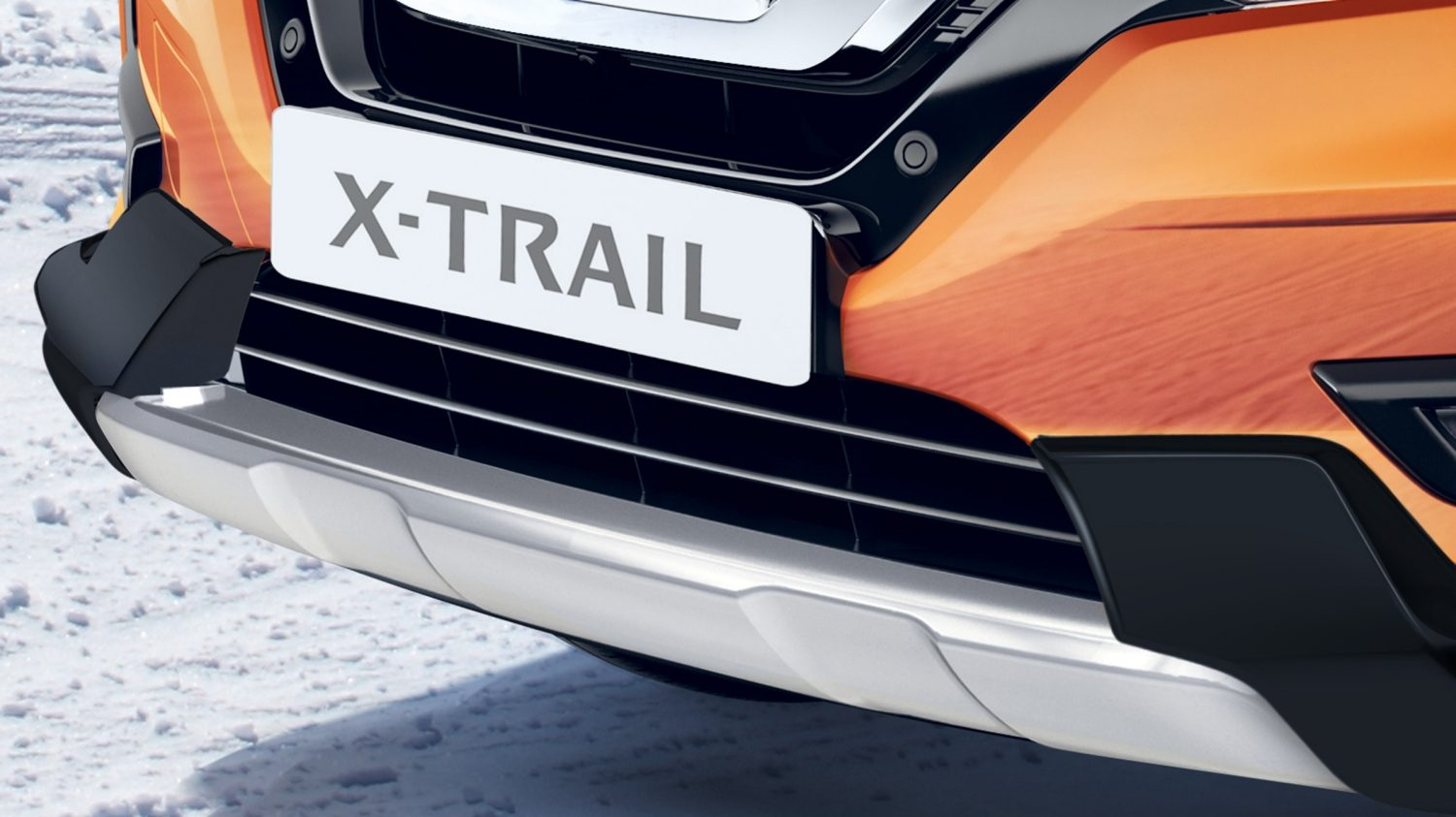 Placa embellecedora frontal con protector de guardabarros del X-Trail